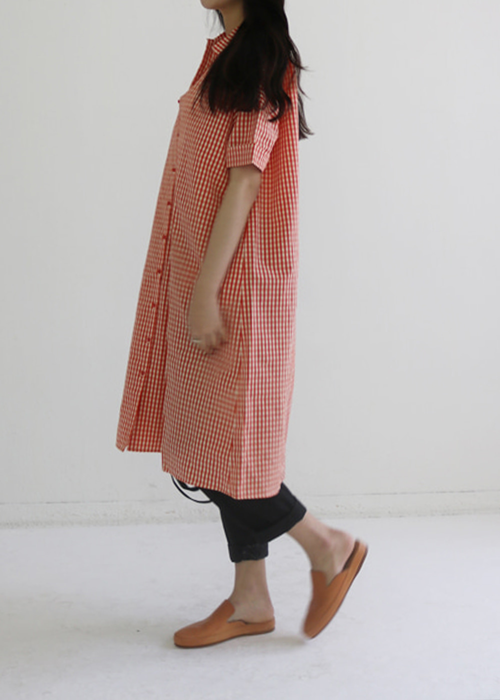 COTTON SILK POPELINE DRESS