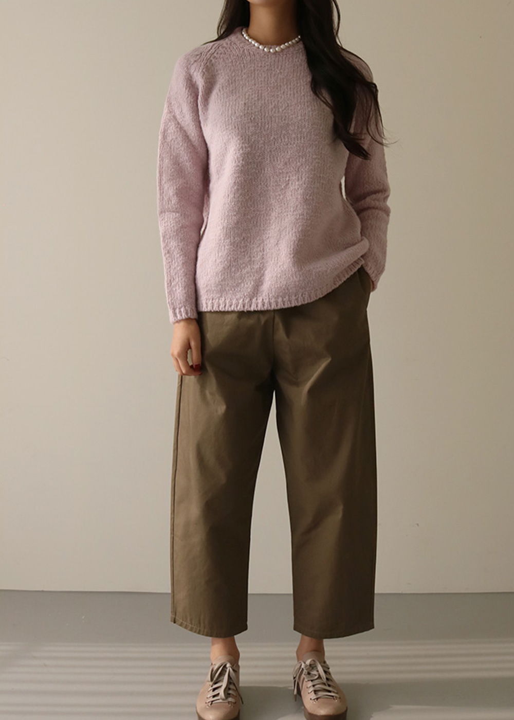 ALPACA WOOL KNIT TOP - pink