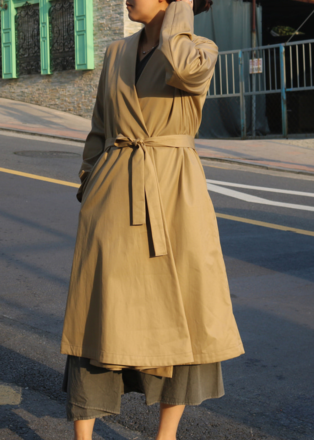 Yama-Nokoromo Cotton Trench Coat
