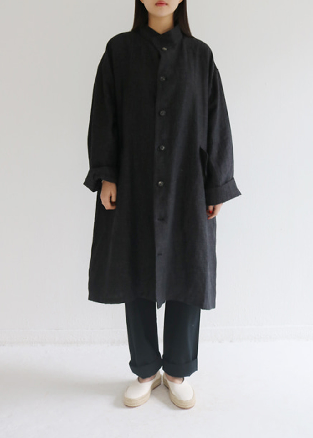 UNLINED OVERSIZE COAT