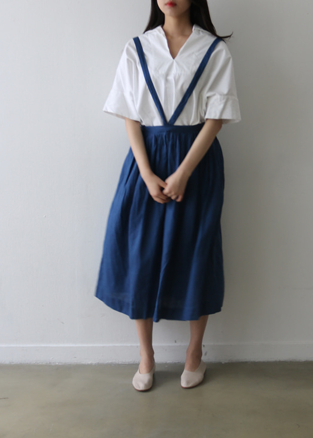 Hand Tuck Gather Skirt