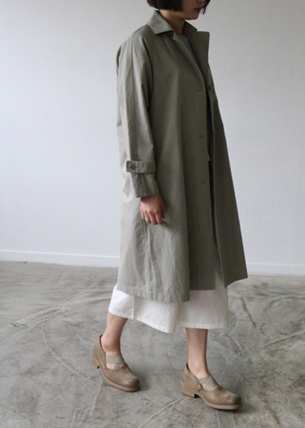 COTTON HEMP TRENCH COAT