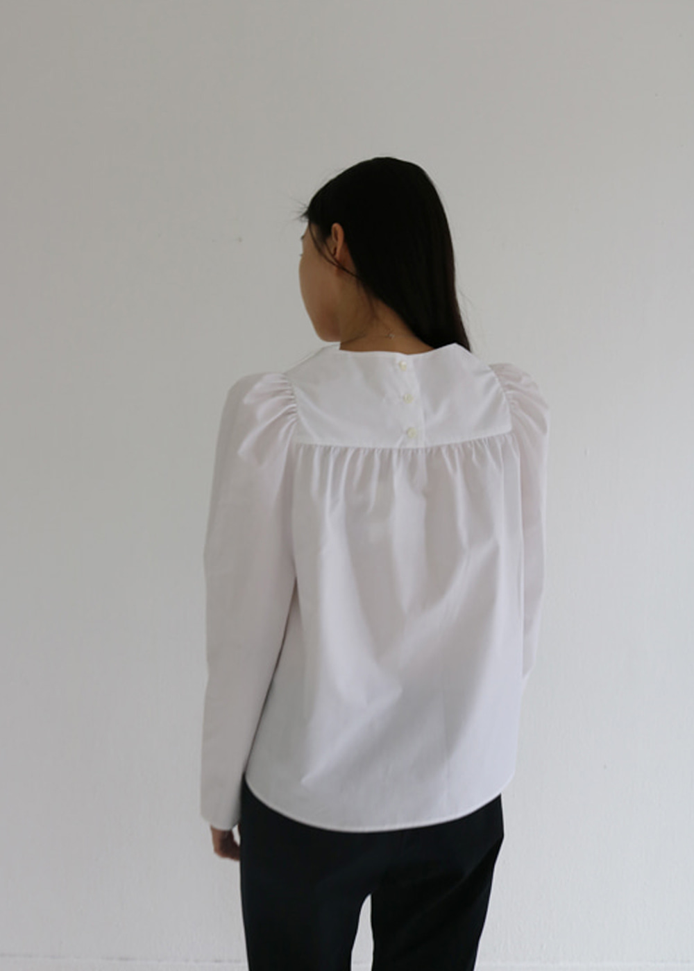 LS BLOUSE/DATCHA - white