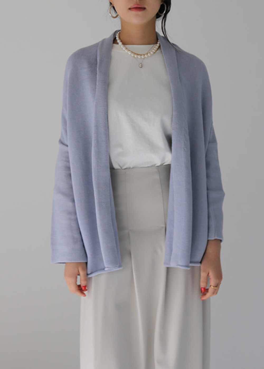Slouch Cardigan - Spa Blue