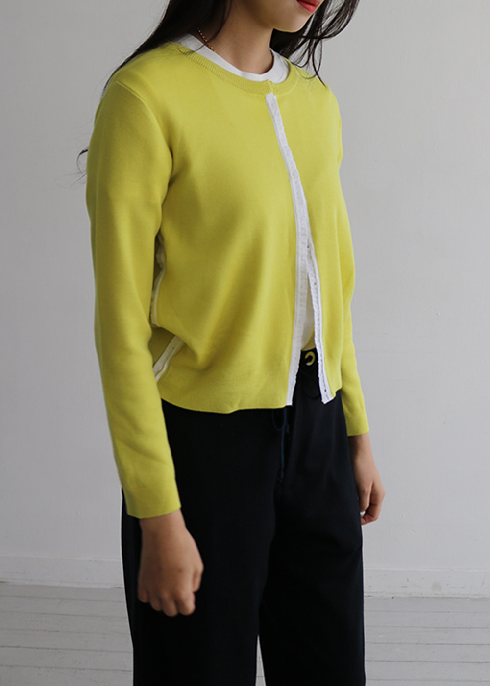 CARDIGAN - lemon yellow