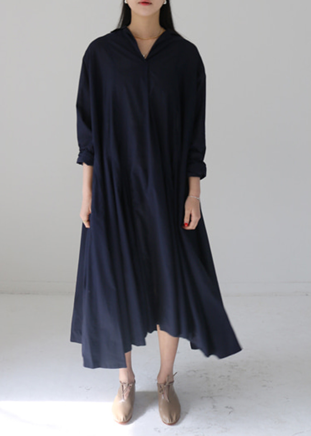 CYB FINE NAVY COTTON DRESS