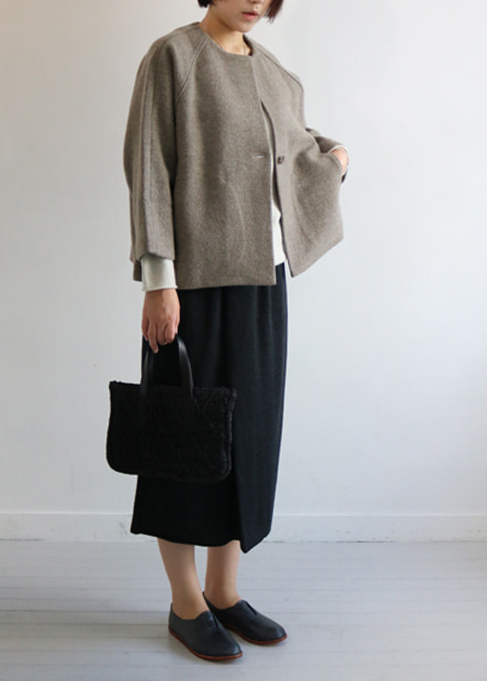 Press Wool Short Coat