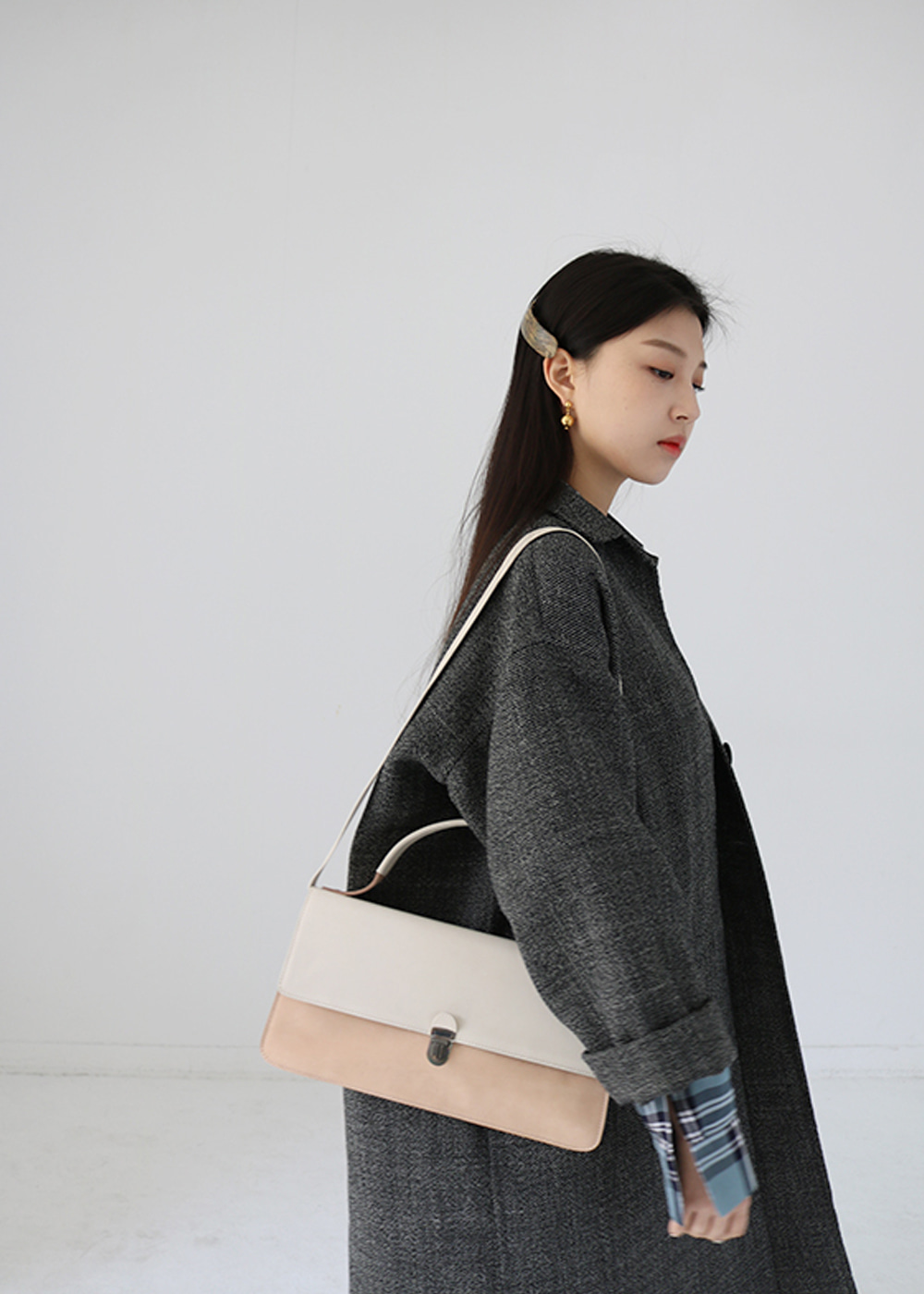MIDI COAT POCKET CHEST