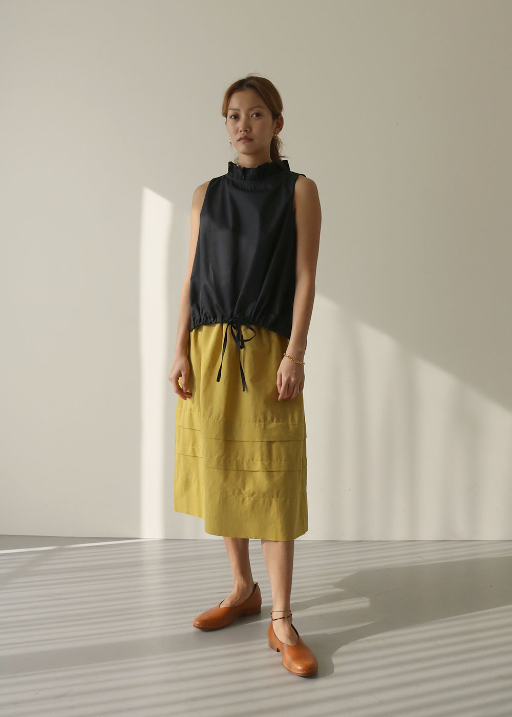 JUPE MINOR SKIRT - aniseed