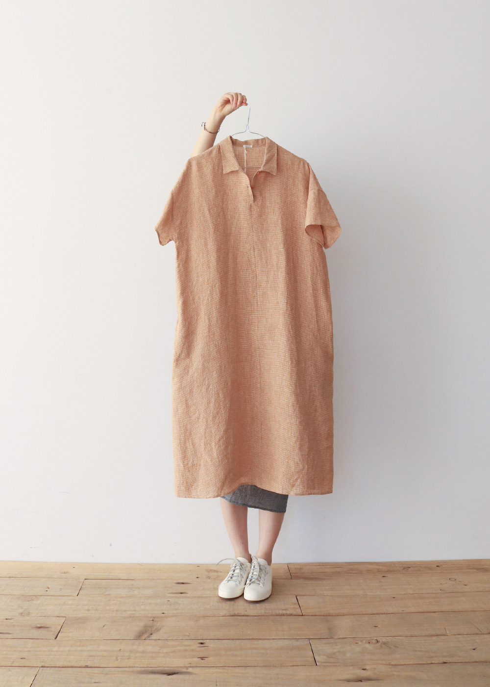 LINEN DRESS - pumpkin