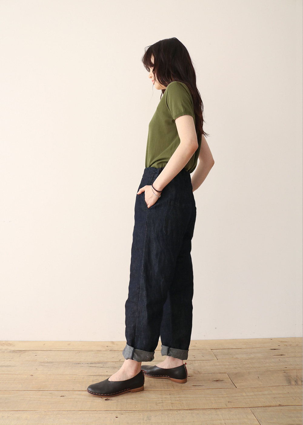 TROUSERS - indigo
