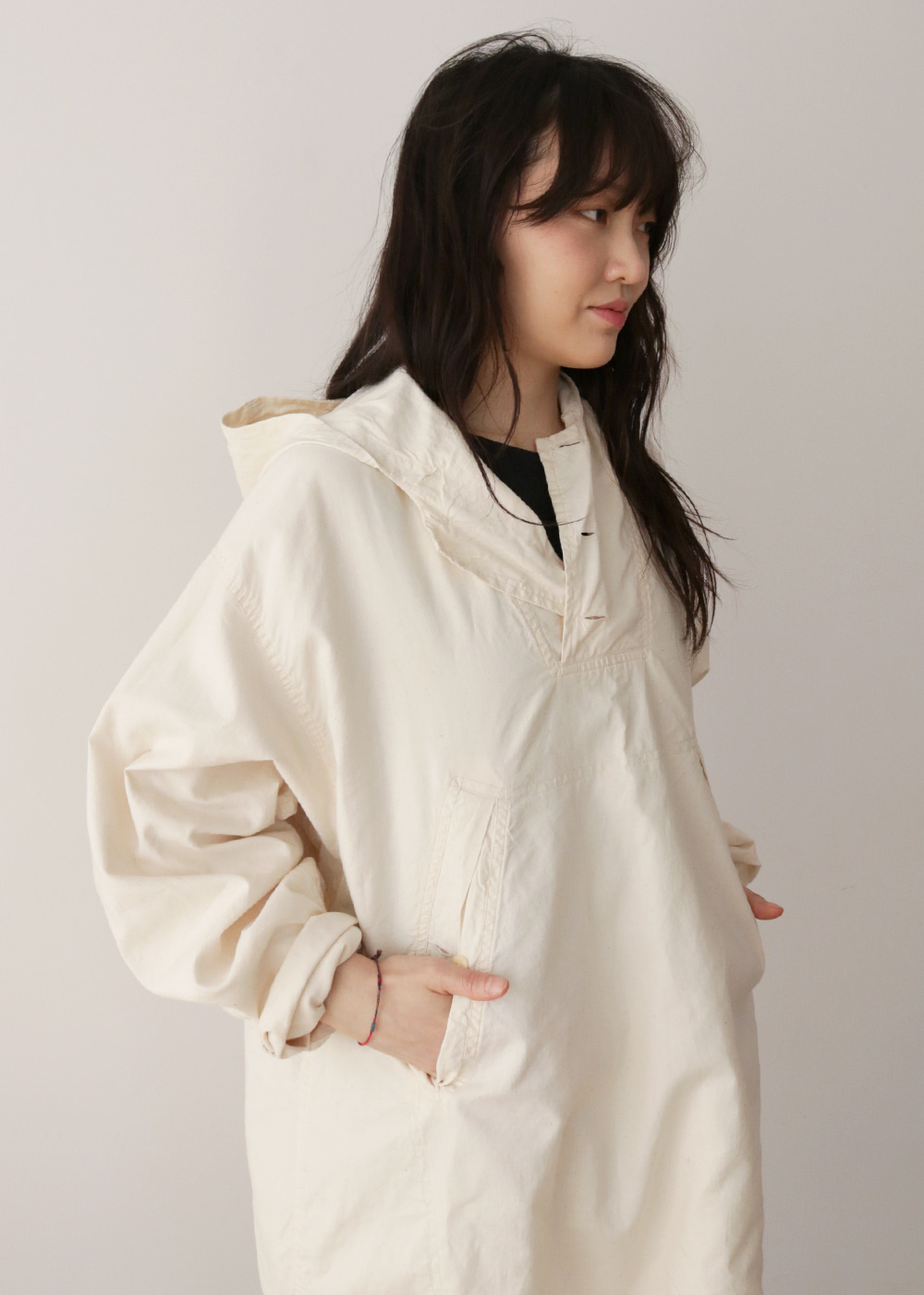 Anorak Natural Cotton Pullover
