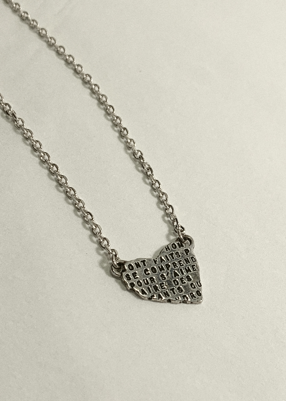 COLLIER COEUR ARGENT (N18A)