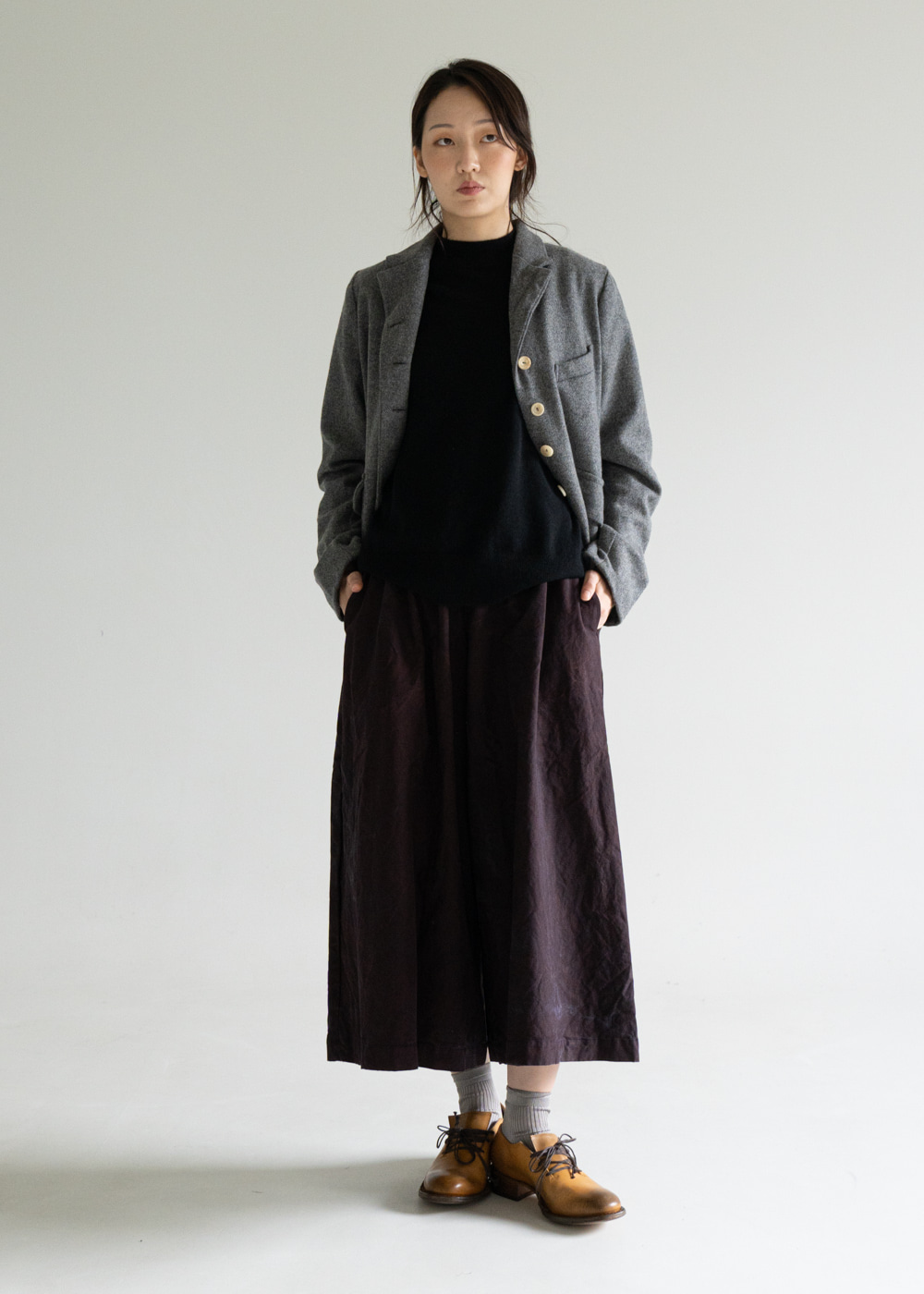 WP WIDE OVERSIZE PANT - plum