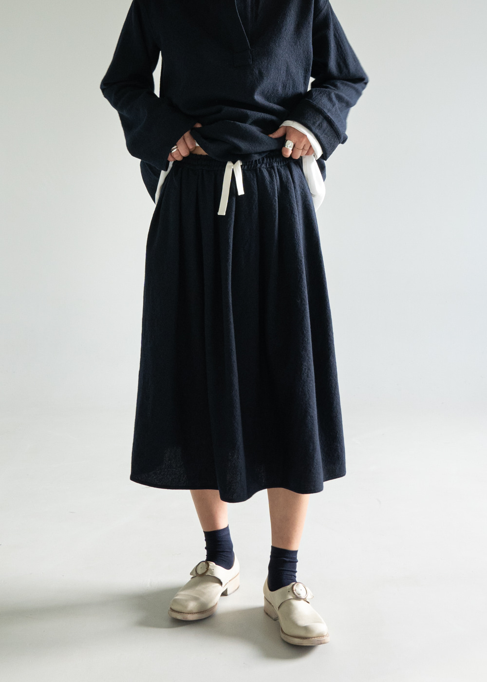 Scully Midi Skirt - Dark Navy