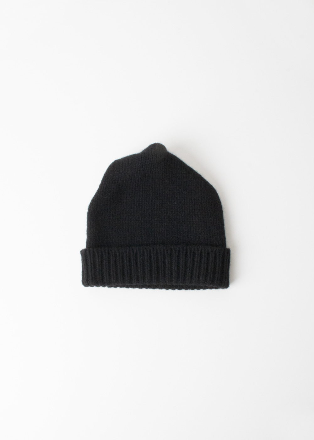 PLEATS KNIT CAP - black