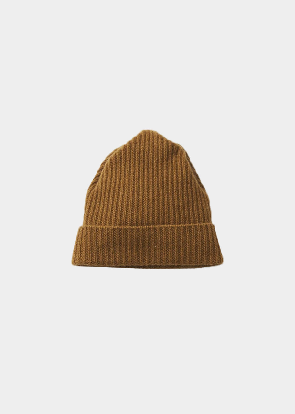 pleats knit cap -mustard
