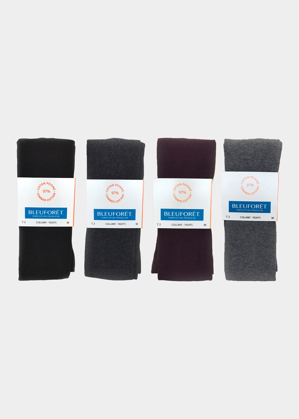 COTTON TIGHTS - black, plum, light grey, charcoal grey