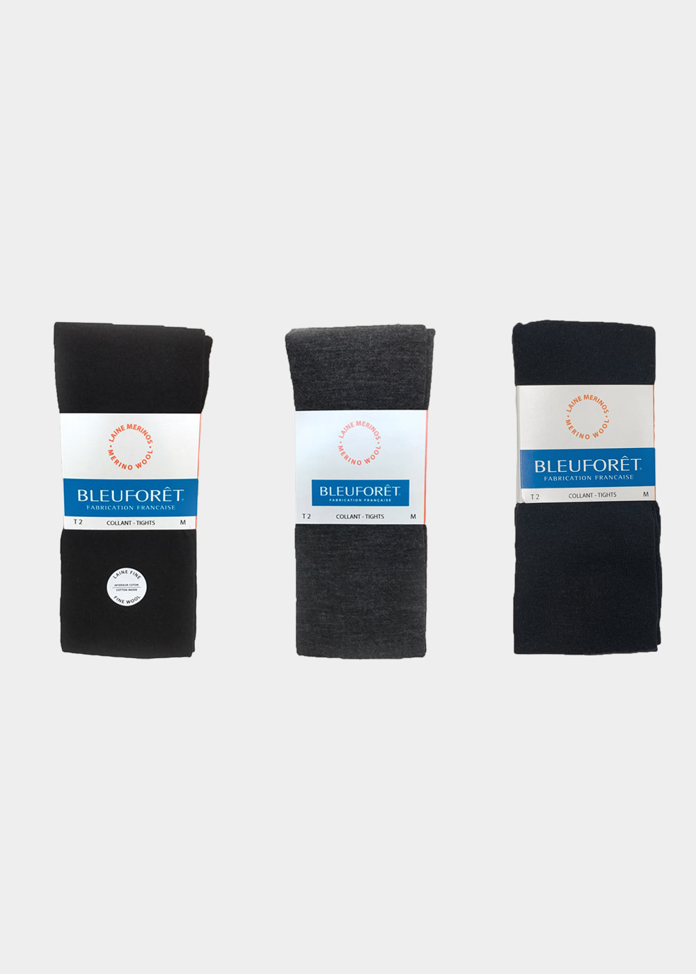 WOOL TIGHTS - black, charcoal grey, navy blue