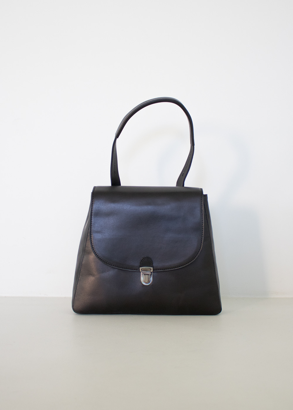 FLAT SMALL LOCK BAG - black