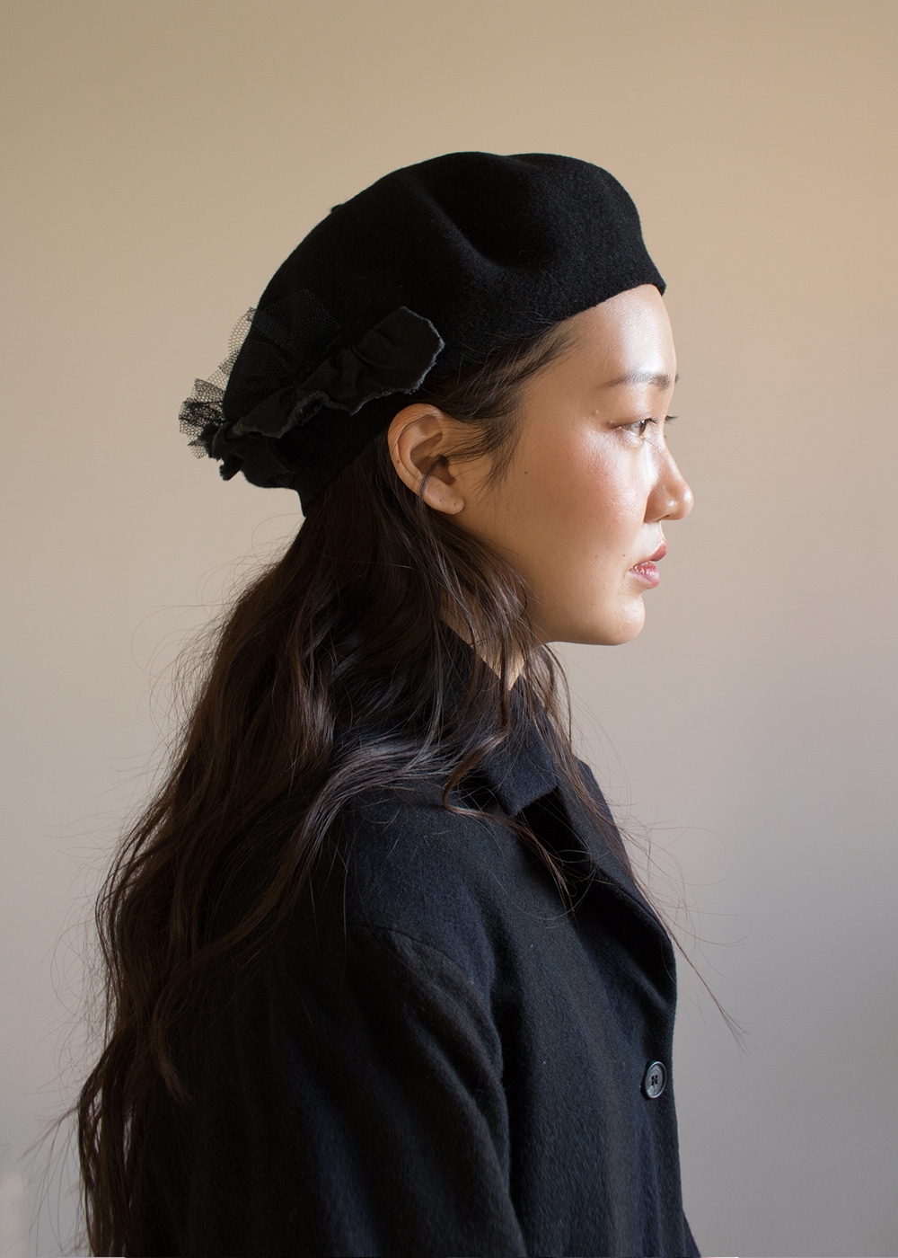 CROWN BERET - black