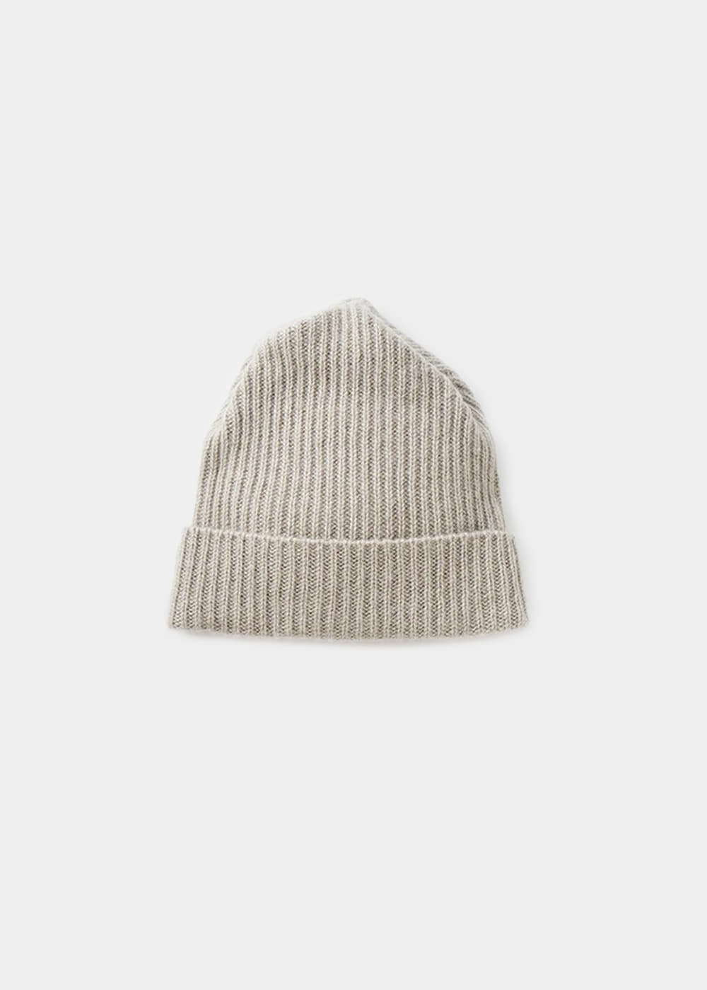 PLEATS KNIT CAP - light grey