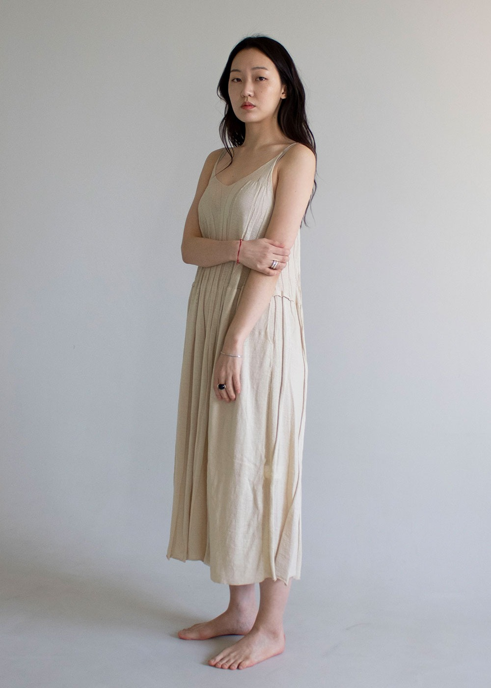 Natural Slip Linen Dress