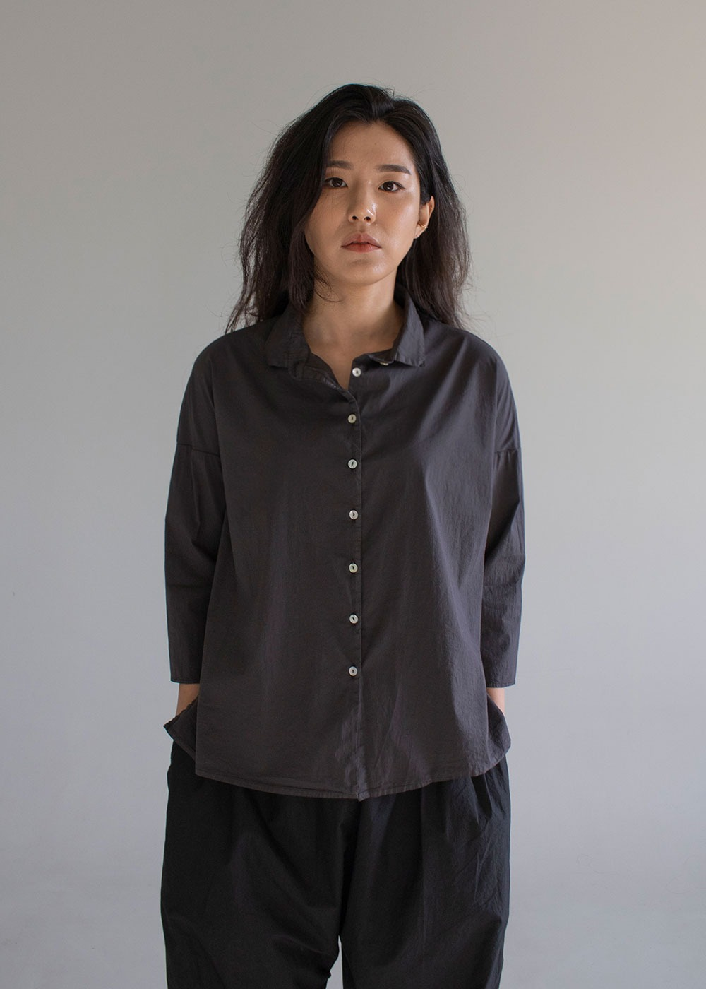 Short Collar Shirt TSL - Bark