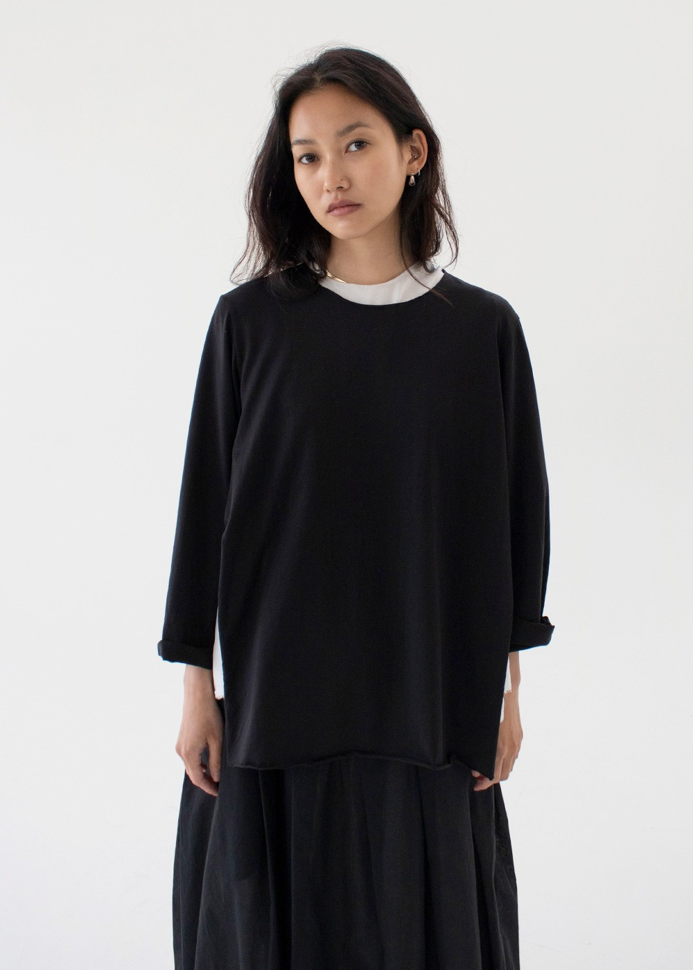 Round Neck Cape Jumper